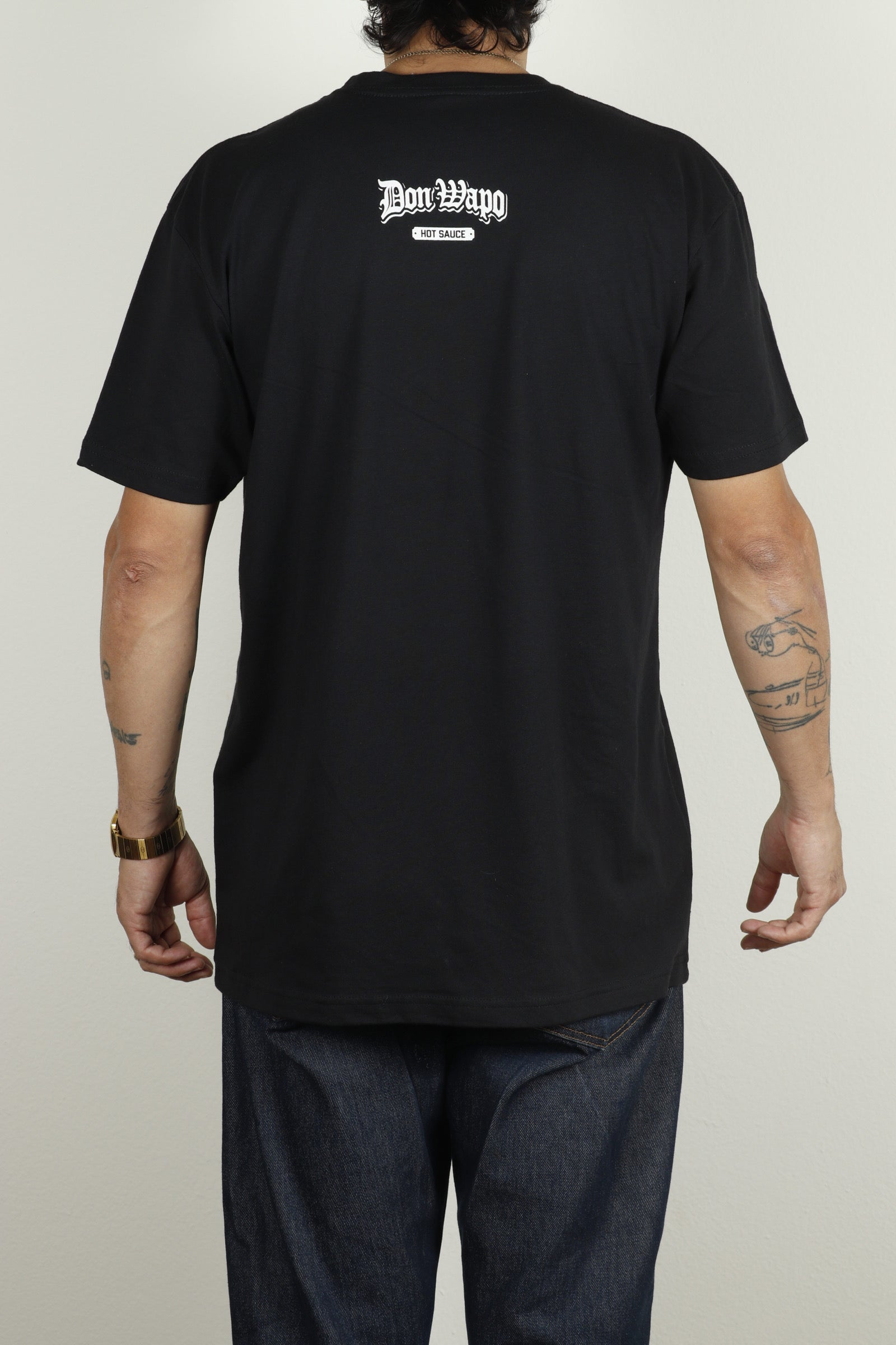 Mens OG Don Wapo Front Logo Tee Black