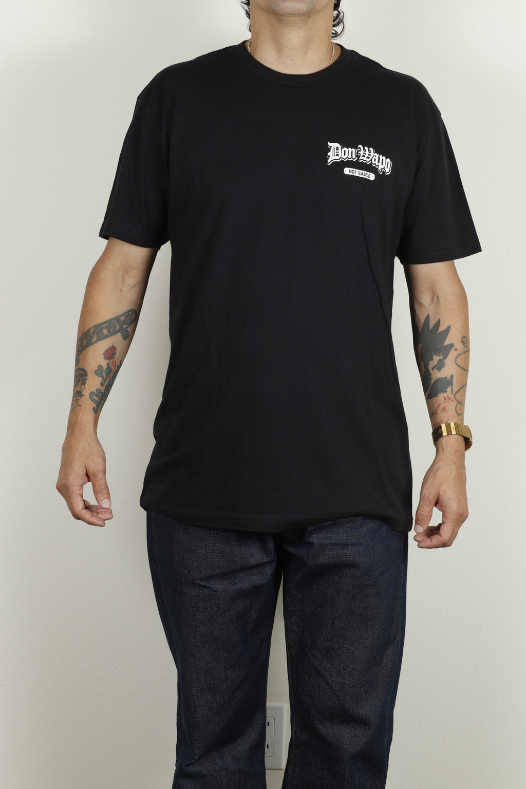 Mens OG Don Wapo Back Logo Tee Black