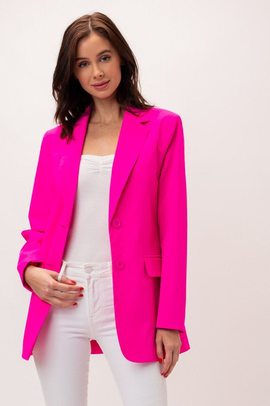 Revolution Blazer- Hot Pink