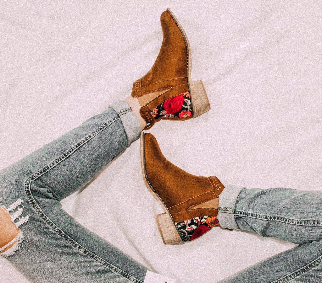 Embroidered Booties