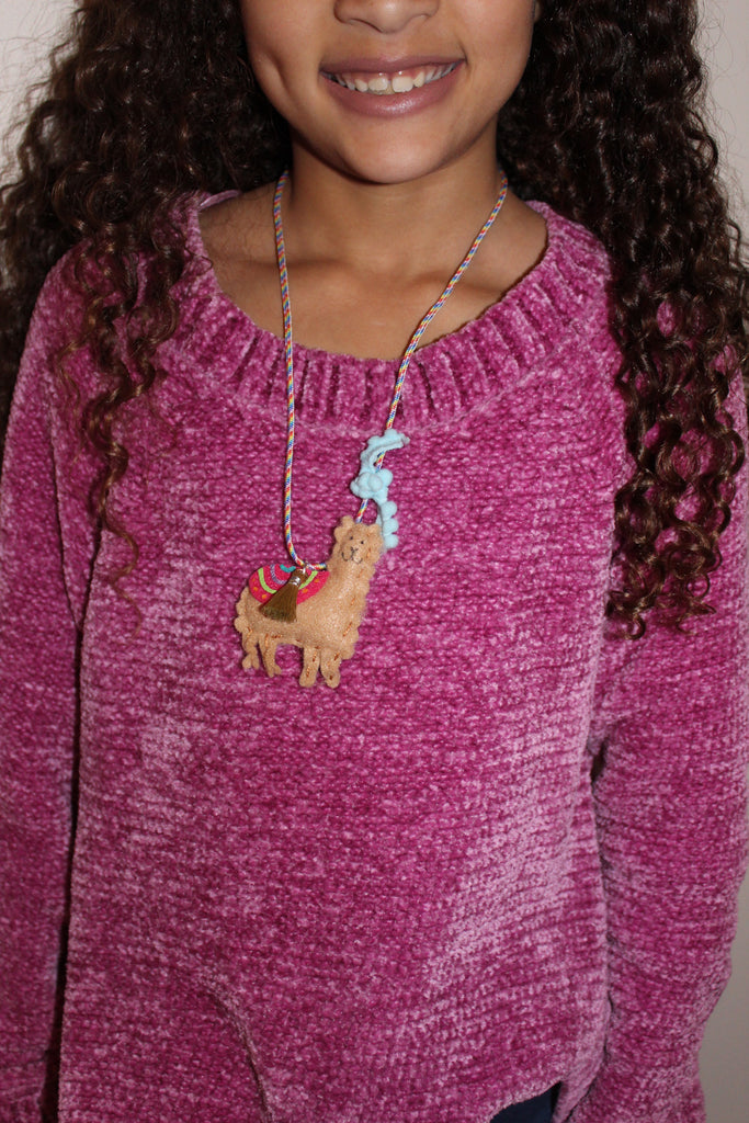 Girls Llama Necklace