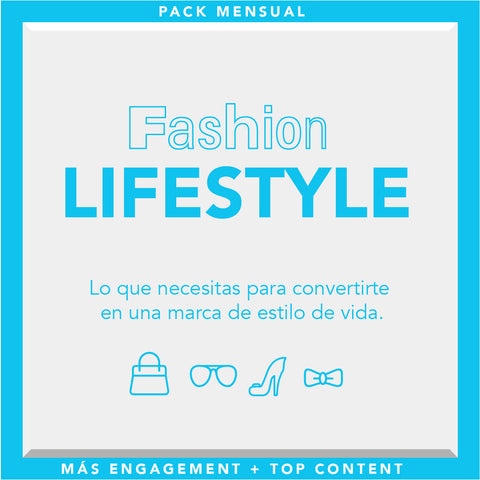 Pack Lifestyle for fashion brand