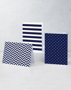 "Boxed Assortment of 15 Cards: ""Navy Set"""