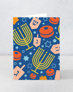 Hanukkah - Dreidels and Menorahs