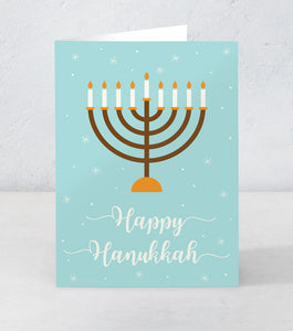 Happy Hanukkah - Menorah
