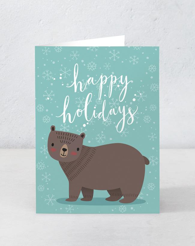 Happy Holidays - Bear