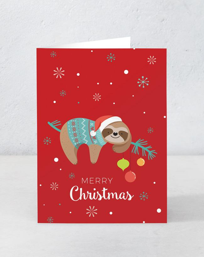 Merry Christmas Sloth