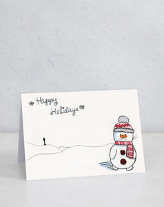 Boxed Assortment of 15 cards: North Pole Snowman (Designed by patient Ryley)