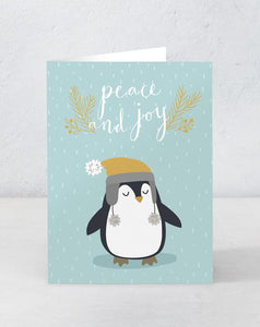 Boxed Assortment of 15 cards: Peace and Joy Penguin