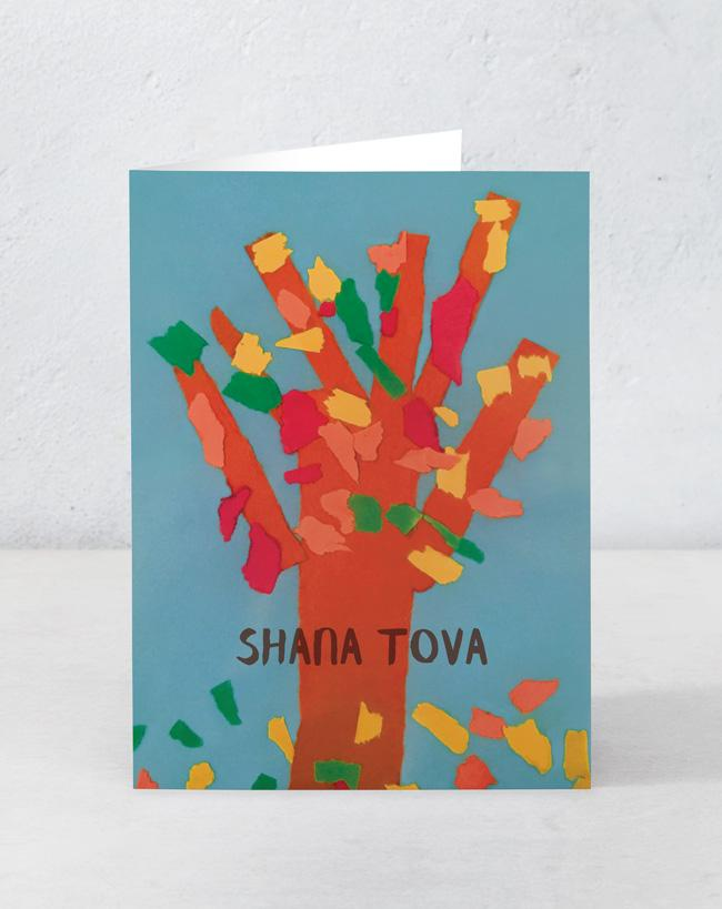 Red Tree - Shana Tova (Designed by patient artist Owen)