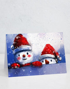 Boxed Assortment of 15 cards: Two Snowmen