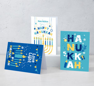 Boxed Assortment of 15 cards: Happy Hanukkah