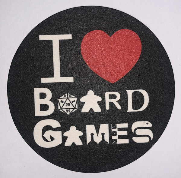 I Love Board Games Coasters (set of 4)