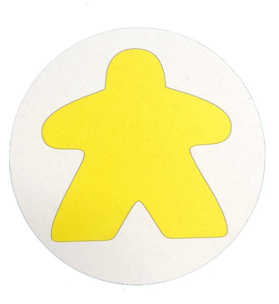 Yellow Meeple Coasters (set of 4)