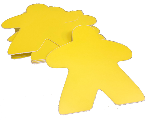 "Yellow Meeple 3""sticker"