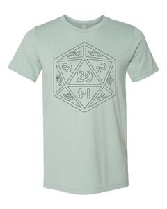 D20 Short Sleeve Board Game T-Shirt