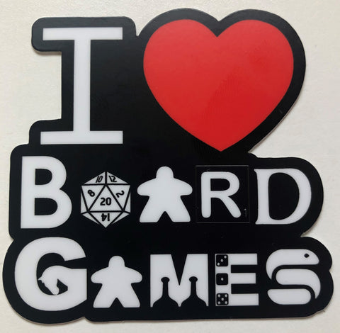 "I Love Board Games 3""sticker"