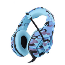 Load image into Gallery viewer, CamoMic™ Gaming Headset - Blue Limited Edition