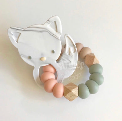 Ready to Ship Foxy Rattle - Smiles By Jo