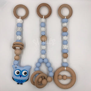 Ready to Ship -  Pastel Blue, Speckle and White w/ Owl - Smiles By Jo