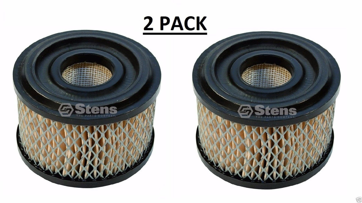 2 Pack Stens 100-099 Air Filter for Briggs & Stratton 390492 Lesco 050353