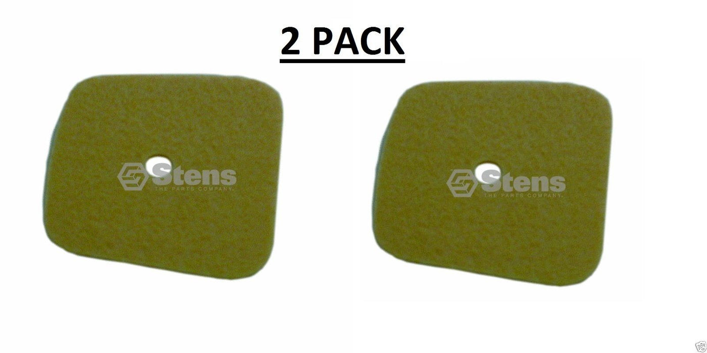 2 Pk Stens 100-416 Air Filter for Echo 13031004560 GT2103 GT2400 HC2100 SRM2400