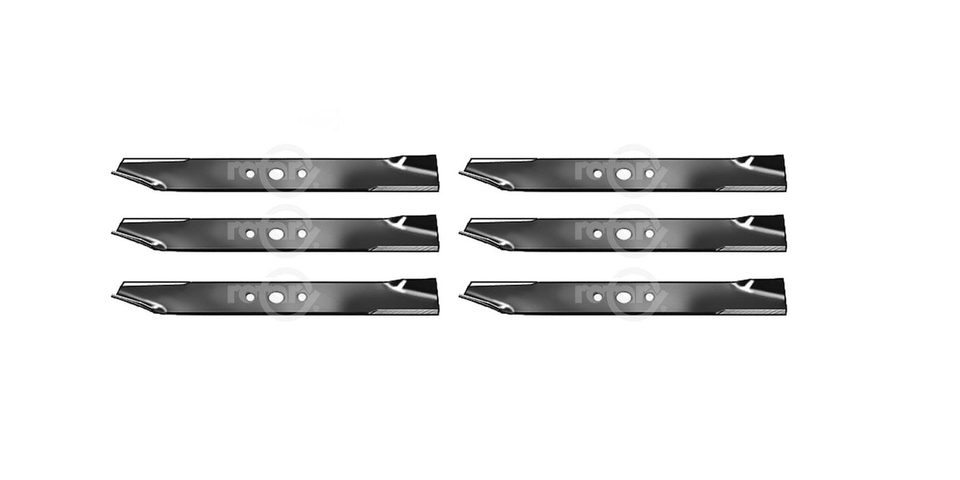 6 Pack Lawn Mower Blades For Simplicity Allis 1708229AS 1716697ASM 1726453BZYP