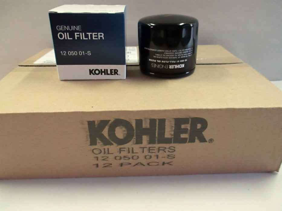 12 Pack Case Genuine Kohler 12-050-01-S Short Oil Filter 12 050 01-S OEM