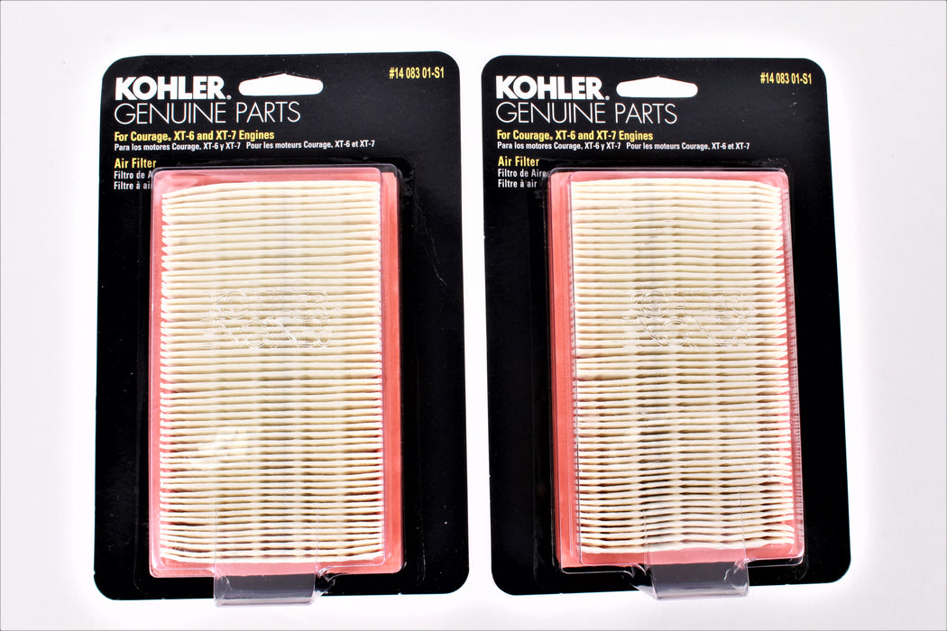 2 Pack Kohler 14-083-01-S1 Air Filter Fits XT6 XT7 XT149 XT173 XT675 14-083-01
