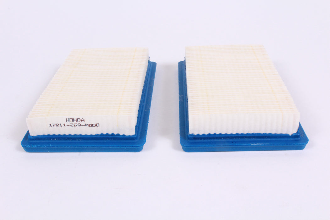 2 Pack Genuine Honda 17211-ZG9-M00 Air Filter Fits HRB215 HRM215 HRC215 HR215