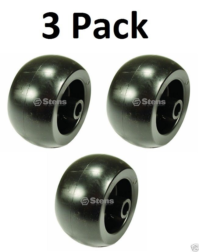 "3 Pack Stens 210-132 5"" Deck Wheel for Husqvarna 574169601 Smooth"