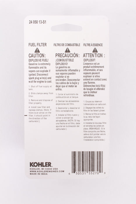 "Genuine Kohler 24-050-13-S1 Extra Capacity Fuel Filter 1/4"" OEM"