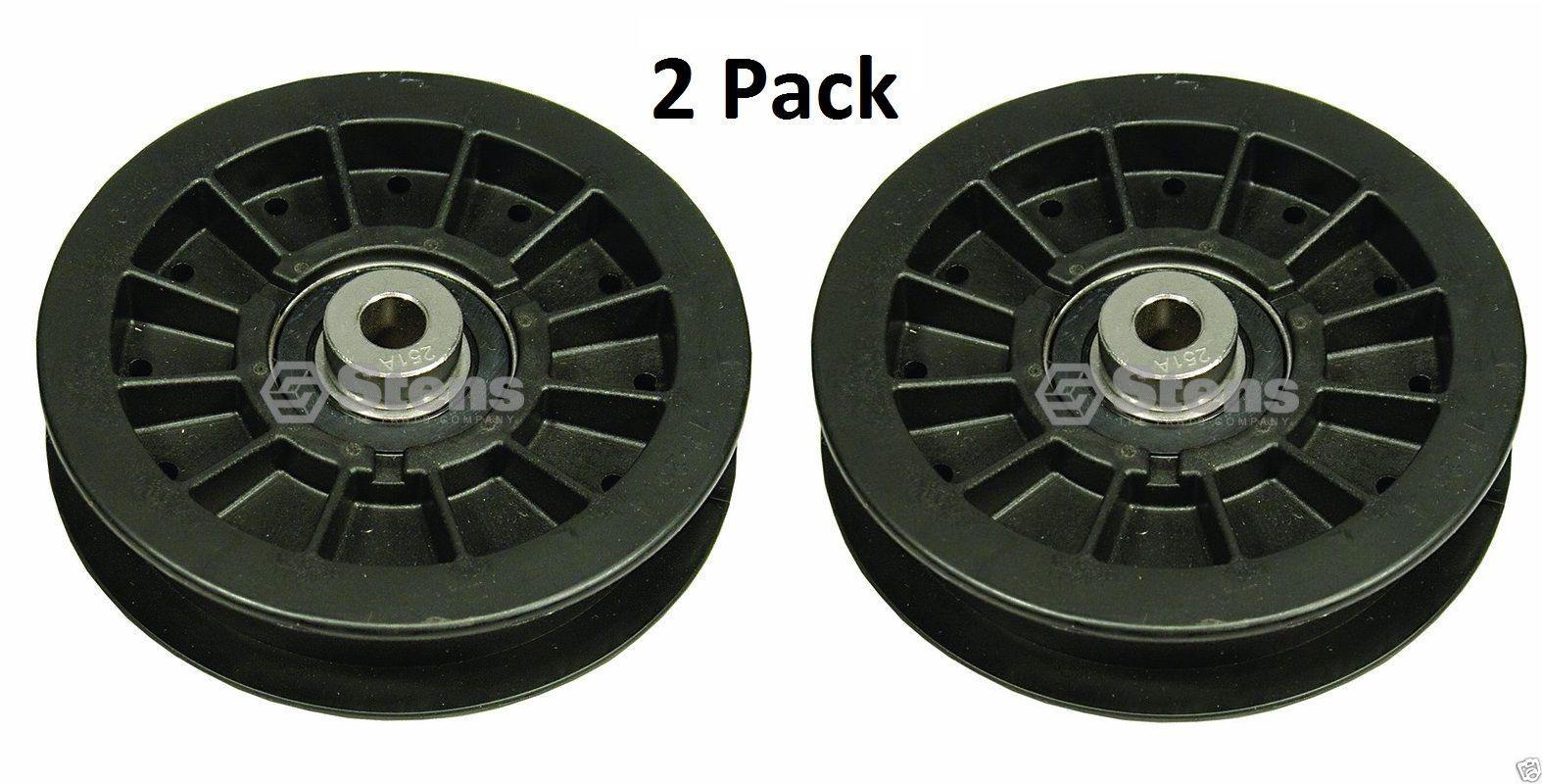 2 Pack Stens 280-511 Flat Idler Pulley for Murray Exmark Toro 109-3397