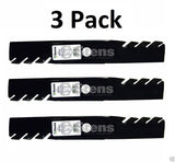 3 Pack Stens 302-615 Toothed Blade for Exmark 116-5177-S 116-5496-S 109-9390-S
