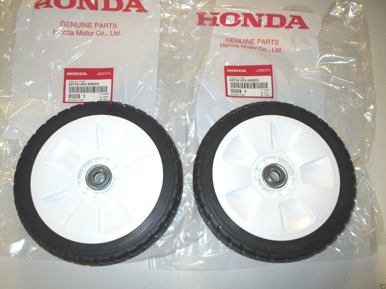 2 Pack Genuine Honda 42710-VE2-M02ZD Rear Wheel Replaces 42710-VE2-M01ZD OEM