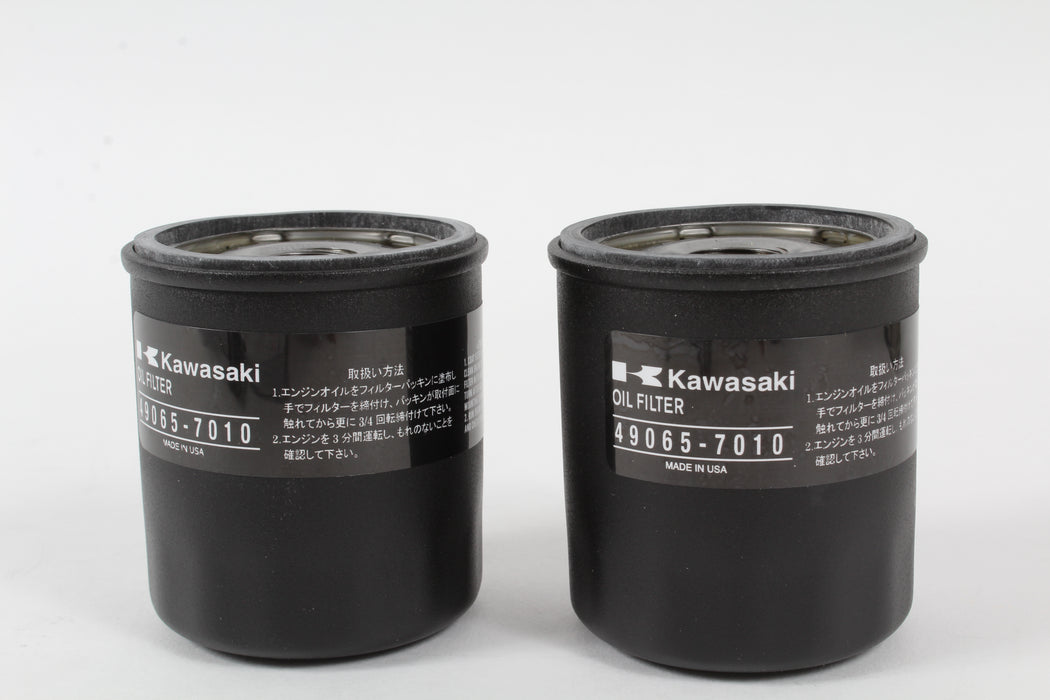 2 Pack Genuine Kawasaki 49065-7010 Oil Filter OEM