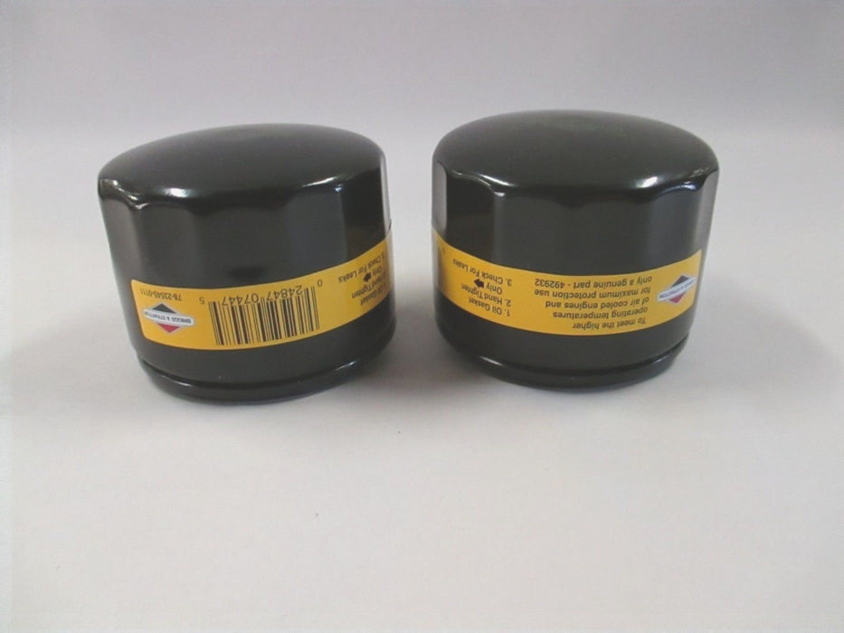 2 Pack Genuine Briggs & Stratton 492932s Oil Filter Replaces 492932 OEM