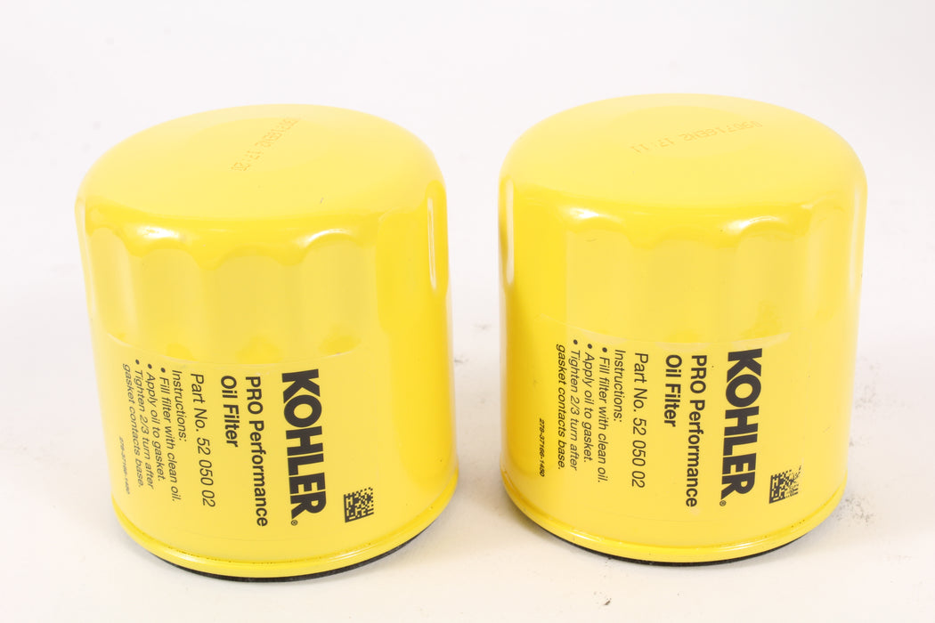 2 Pack Genuine Kohler 52-050-02-S Pro Performance Oil Filter 52 050 02-s OEM
