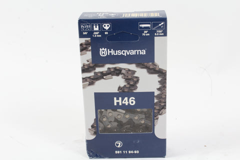"Genuine Husqvarna 591119493 28"" 3/8 .050 93DL Chainsaw Chain Loop 501842593 H46"