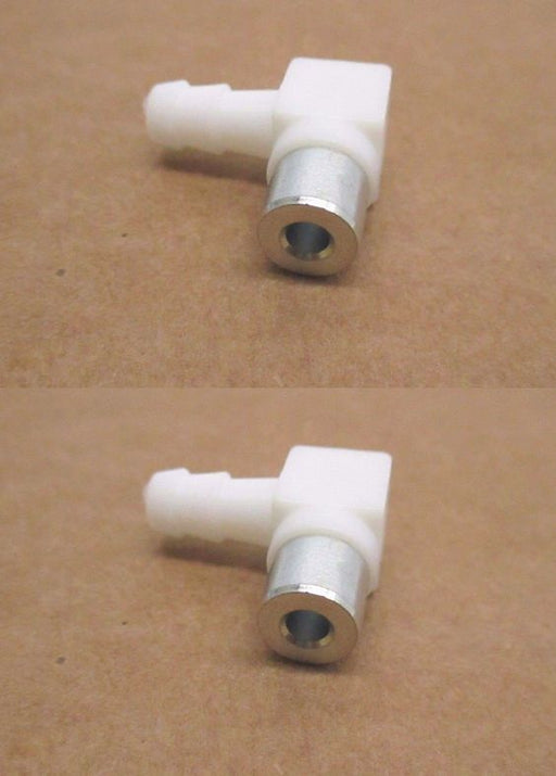 2 Pack Genuine Tecumseh 632527 Fuel Inlet Fitting 90 Degree OEM