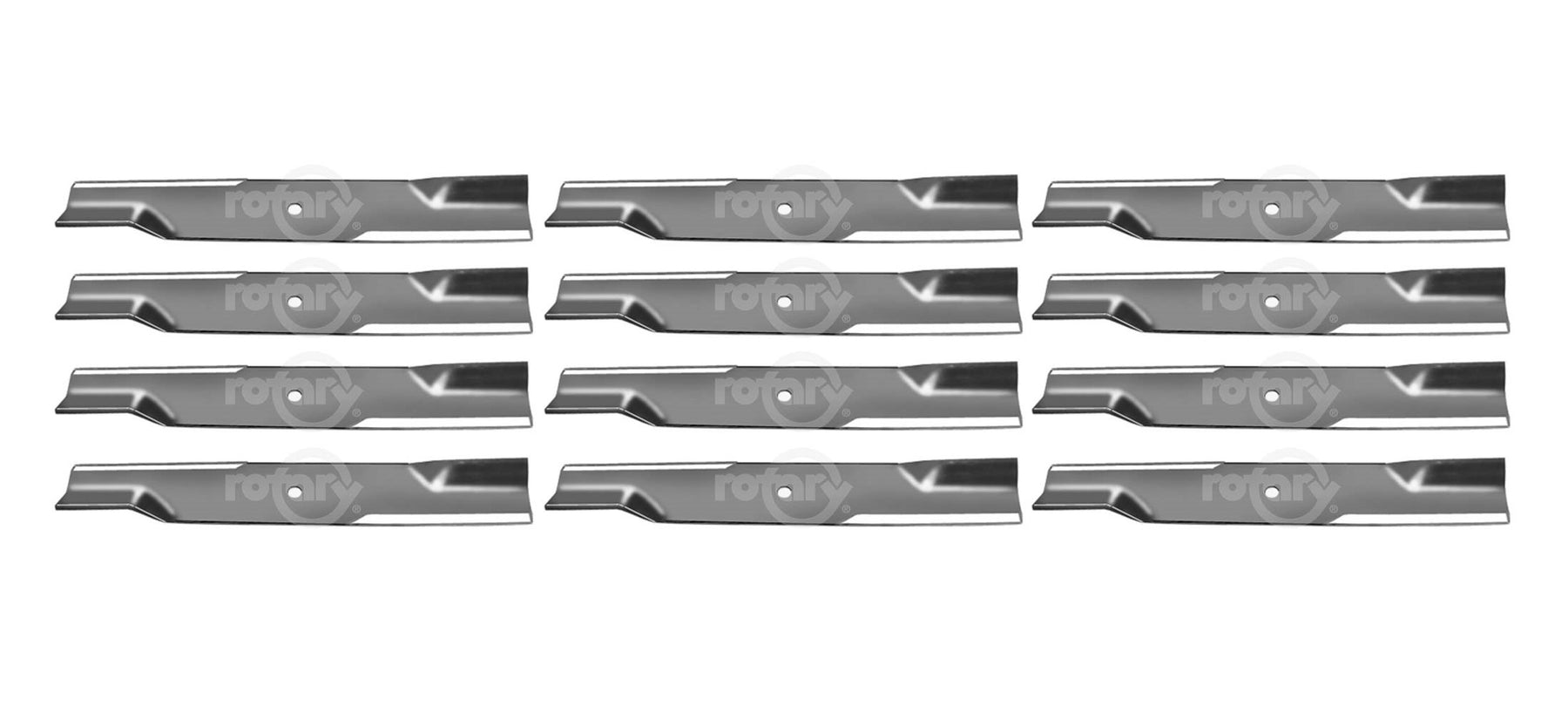 12 Pack High-Lift Lawn Mower Blades Fits Hustler 602771