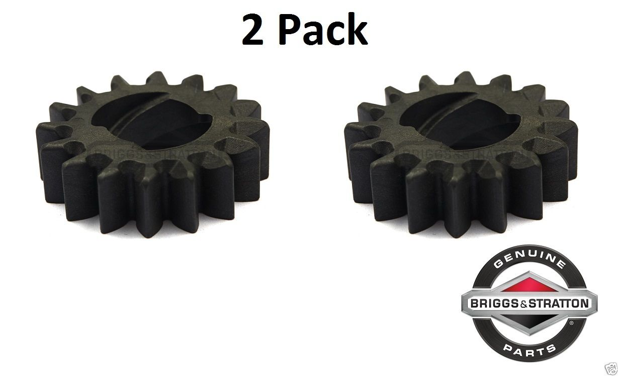 2 Pack Genuine Briggs & Stratton 695708 Starter Drive Gear 16T Fits 280104 OEM
