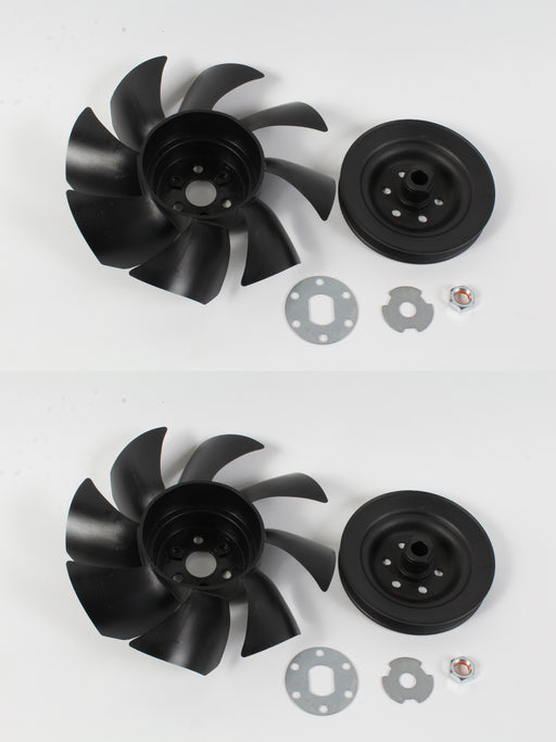 2 Pack Genuine Hydro Gear 71906 Fan & Pulley Kit Set OEM