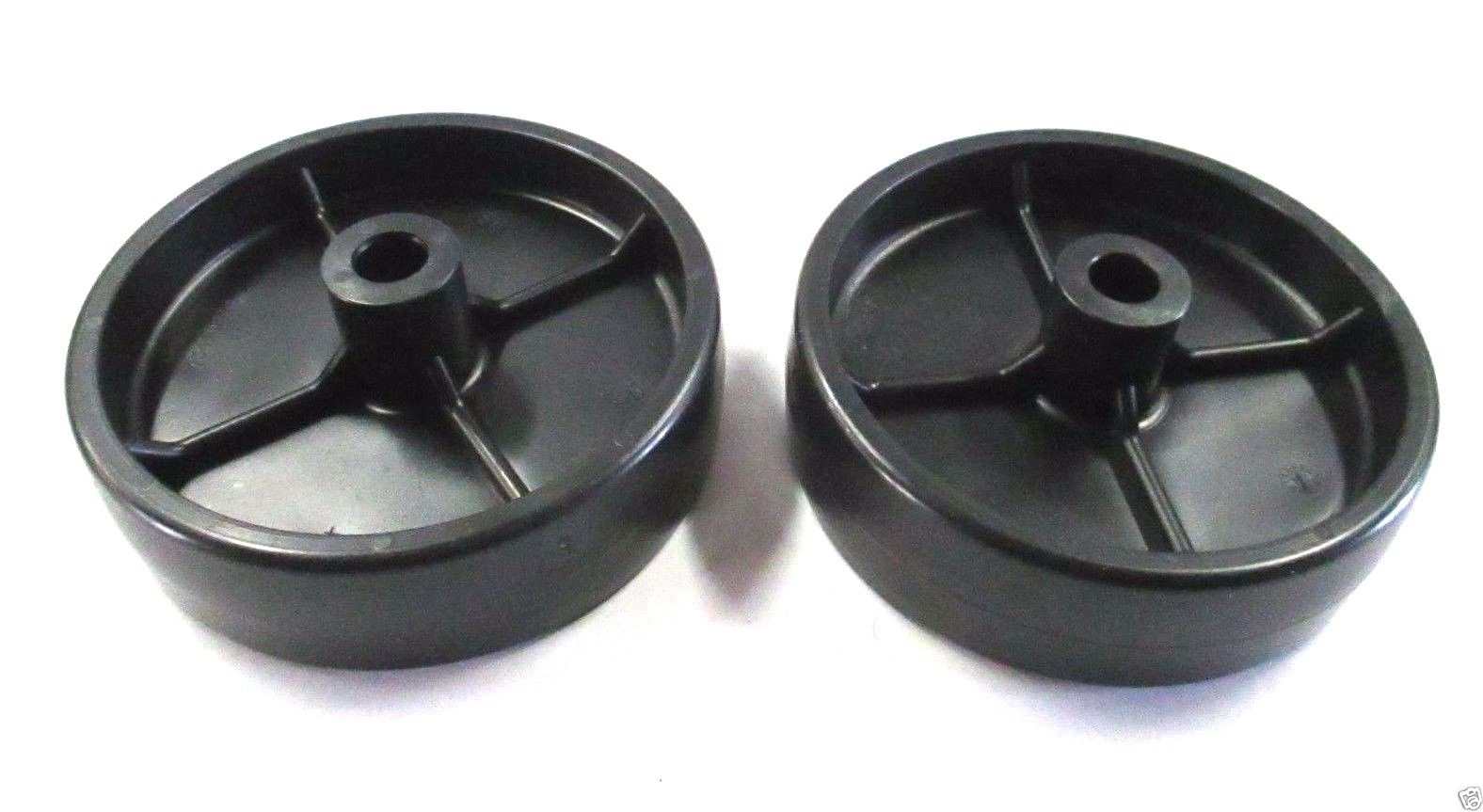 "2 Pack Genuine MTD 734-0973 HD 5"" Plastic Deck Wheel Fits Bolens Troy-Bilt White"