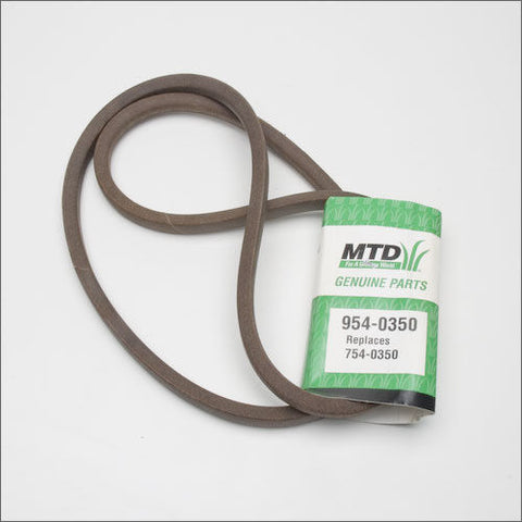 Genuine MTD 954-0350 Deck Drive Belt Fits Cub Cadet Troy-Bilt Yard-Man White OEM