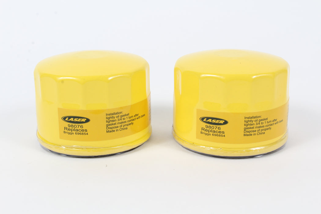 2 Pack Oil Filter Fits B&S 696854 795890 842921 695396 492932
