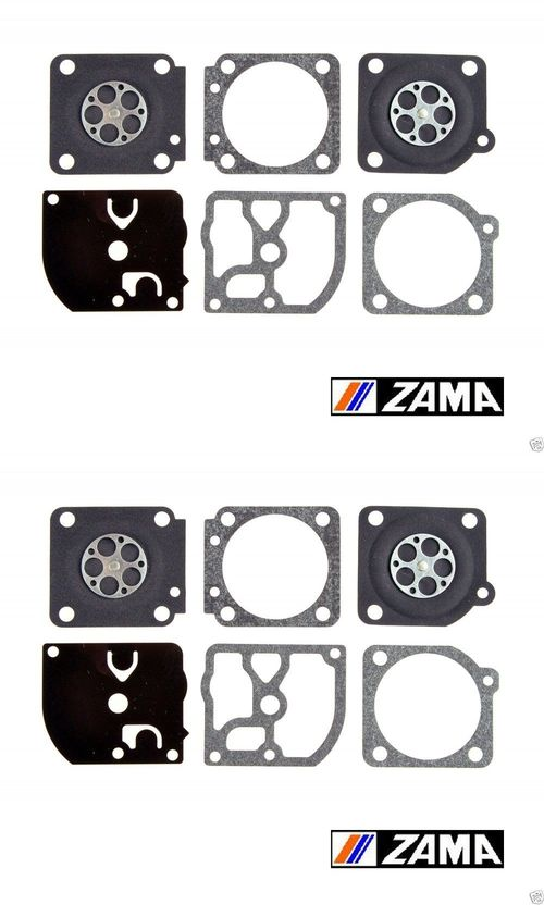 2 Pack Genuine Zama GND-39 Carburetor Gasket & Diaphragm Kit