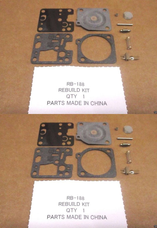 2 Pack Genuine Zama RB-188 Carburetor Repair Rebuild Kit RB188 OEM