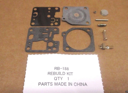 Genuine Zama RB-188 Carburetor Repair Rebuild Kit RB188 OEM