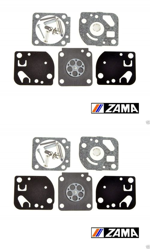 2 Pack Genuine Zama RB-20 Carburetor Repair Rebuild Kit Fits C1U-H C1U Homelite